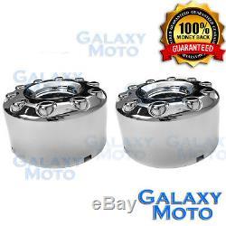 05-17 Ford Super Duty DUALLY Chrome 10 Lug 19 REAR Wheel Center Hub Cap 1 PAIR