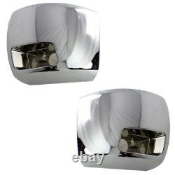 07-10 Silverado Front Bumper Extension End withFog Hole Left & Right Side PAIR SET