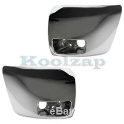 07-13 Silverado 1500 withFog Lamps Front Bumper Extension End Left Right SET PAIR