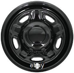 10-21 Ford F250 F350 XL Super Duty 4x4 17 Black Wheel Skins Rim Covers Hub Caps