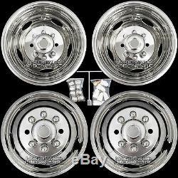 11-19 Silverado 3500 17 Dually Stainless Steel Wheel Simulators Dual Rim Liners