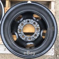 16 8 Lug On 6.5 Gray Steel Wheels Chev Truck Van Or Suburban (oem) Gray Cap