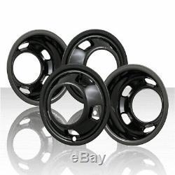 17 BLACK Dually Wheel Simulators Dual Skins Liners Covers for 03-17 DODGE RAM 3