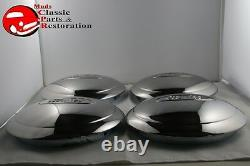 1934 Ford 4 Cylinder Car Pickup Truck Stainless Hub Caps Ford Script Set Of 4