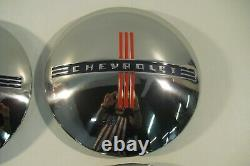 1940 1941 Chevrolet Chevy Car and Truck 1/2 to 3/4 Ton Stainless Steel Hubcaps