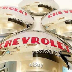 1947-53 Chevrolet Hub Caps to fit aftermarket'Gennie' Steel Wheel- Pol S/S X4