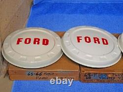 1965-1966 Ford Truck F100 Painted Hub Caps NOS