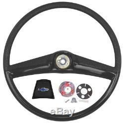 1969 1970 1971 1972 Chevrolet Truck Black Steering Wheel Kit Wheel Cap Retainer