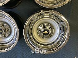 1971-87 Chevy C10 Truck 5 On 5 15x8 Gm Original Truck Rallys, Gm Caps & New Rings