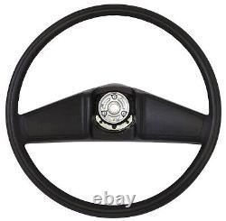 1987 Chevy Truck Black Deluxe Steering Wheel Kit, Wheel/horn Cap, 2pc