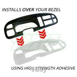 1999 2000 2001 Dodge Ram Dash Cover & Bezel Cap Skin Overlay Mist Grey