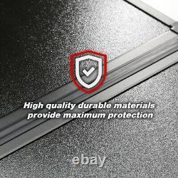 2014-2020 Silverado 5.8ft Box Cap Quad Fold Waterproof Solid Hard Tonneau Cover