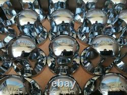 20x SCANIA 3D Logo 33mm Wheel Nut Cover Caps Plastic CHROME Non-Scratch Trucks