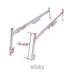 2X Adjustable Ladder Boat Racks for Aluminum Truck Caps Mill Finish Heavy Duty