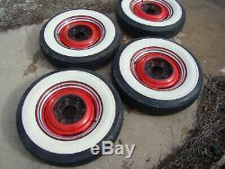 37 38 39 40 41 46 48 Chevy 4 Whitewall Tire 16 Wheel Rim New Caps Truck 47 49 50