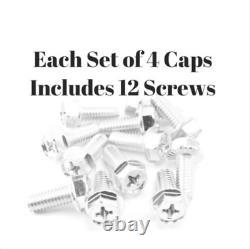 4PC CHEVROLET CHEVY GMC TRUCK CAPS OF 6 LUG 15 15x8 RALLY WHEEL CENTER HUB CAP