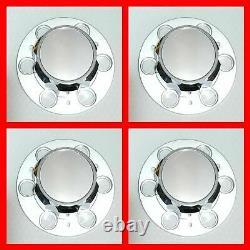 4X CHEVROLET CHEVY GMC TRUCK CAPS OF 6 LUG 15 15x8 RALLY WHEEL CENTER HUB CAP