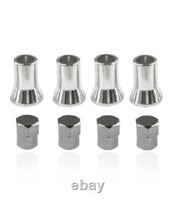 4X TR413 Tire Valve Stem Cap With Sleeve Cover Chrome Car And Truck