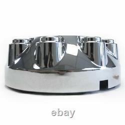 4 17 CHROME 8 Lug Wheel Center Hub Caps Rim Nut Bolt Covers For Dodge Ram Truck