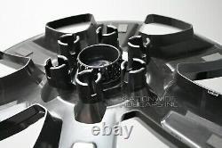 4 2014-2019 GMC Sierra 1500 20 Black Wheel Skins Hub Caps Aluminum Rim Covers