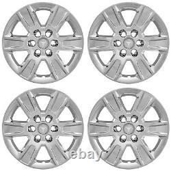 4 20 Chrome Wheel Skins Hub Caps Aluminum Rim Covers for 2014-2018 GMC Sierra 1