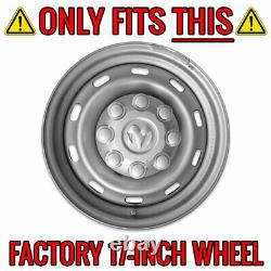 4 CHROME 17 8 Lug Wheel Skins Hub Caps Rim Simulators Center Covers for Dodge R