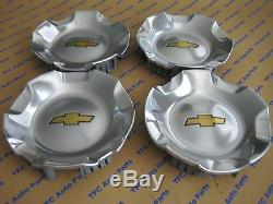4 Chevy Chevrolet Truck SUV 20 Inch Polished OEM Center Caps New
