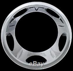 4 Chrome 11-20 Silverado Sierra 3500 17 Dually Wheel Simulators Dual Rim Liners