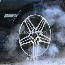 4 Pcs Black 64mm Dia 4 Clips Car Wheel Tyre Center Rim Hub Caps US Seller