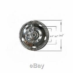 4pcs 19.5 Dually Steel Wheel Simulators 8 Lug 5 Hand Hole Skins Liners Covers