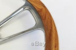 60-69 Chevy Truck C / K Series Oak Wood Steering Wheel & Billet 14 Bowtie Cap