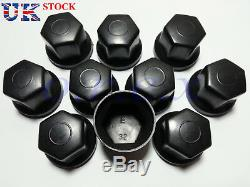 60x 32mm Black Plastic Wheel Nut Cover Caps Bolt fit Truck Lorry Trailer Bus LKW