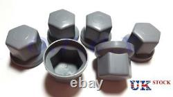60x 32mm Grey Plastic Wheel Nut Cover Caps Bolt fit Truck Lorry Trailer Bus LKW