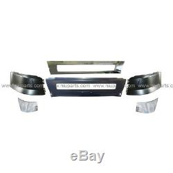 6 Pc Combo Bumpers WithO Hole with Cap Cover LH & RH (Fit Volvo VNL Trucks)