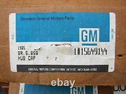 73-91 Chevrolet C/r Truck Blazer Suburban Nos 5 Lug Nos Gm Rally Center Caps