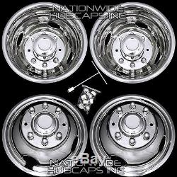 99-02 FORD F350 16 Dually Stainless Steel Wheel Simulators Rim Liner Covers F9