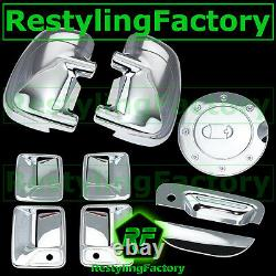 99-07 Ford Super Duty Chrome Mirror+4 Door Handle with PSG KH+Tailgate+GAS Cover