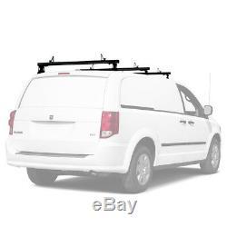 Aluminum 3 Bar 50'' Pickup Truck Cap Topper Camper Shell Van Roof Ladder Rack