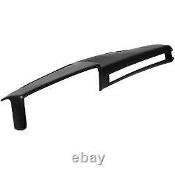 Black ABS Dashboard Cover Overlay For GMC Chevrolet Trucks Dash Cap