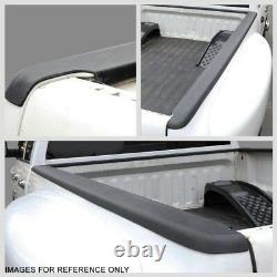 Black Truck Bed Cap Molding Rail Cover For 04-12 Colorado/Canyon Reg/Ext Cab