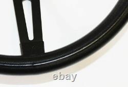 Chevrolet C10 K10 Pick Up Truck Black on Black Steering Wheel BlK/Rd Cap 13 1/2