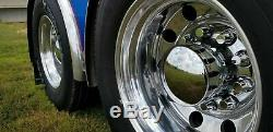 Chrome hub cover axle kit 33mm truck push on semi front rear set rounded caps