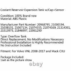 Coolant Reservoir Tank withCap+Sensor 2564837 For Volvo VNL Truck 2008-2017 USA