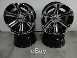 Daihatsu Hijet Mini Truck Alloy wheels 12x7 4x110mm bolt pattern and center caps