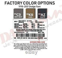 Dash Cover Dodge Ram Molded Skin Cap Overlay 98 99 00 01 Agate, Dark Grey AZ