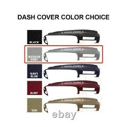 Dash Cover Molded Skin Cap Overlay Yukon Suburban Tahoe 1997 98 99 00 Med Grey
