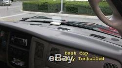 Dodge RAM Main Plastic DASH Cap HARD Cover Fits 02-05 P/U Truck BLACK Unpainted