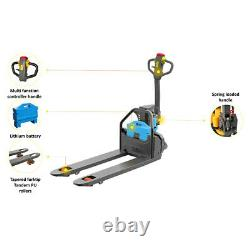 Electric Pallet Jack Truck Full Power Lithium 3300lbs Cap. Plus Extra Battery