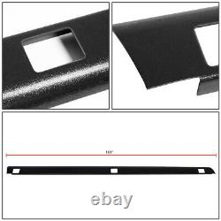 FOR 1999-2007 SILVERADO/SIERRA 8FT BED BLACK TRUCK RAIL COVER CAP MOLDING WithHOLE