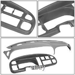 Fit 98-02 Dodge Ram Truck 1500-3500 Dashboard Cover Cap Overlay+Instrument Bezel